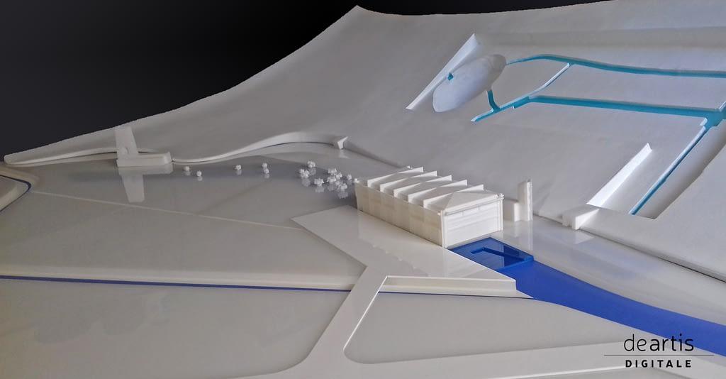 Plastico CENTRALE IDROELETTRICA DI RIETI Taglio LASER Resina Stampa 3D e Assemblaggio Vari Materiali